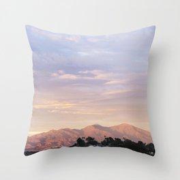 Sunset over Saddleback Mountain Throw Pillow