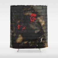puppy Shower Curtains featuring puppy by Ezgi Kaya