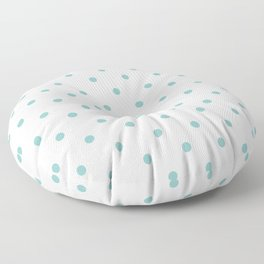Chalky Blue Small Polka Dots Floor Pillow