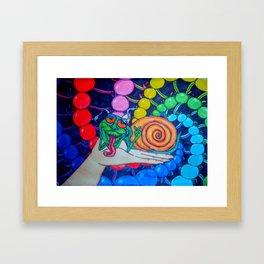 Snailin Framed Art Print