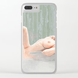 The Daydream Fantasy - Reclining Nude Clear iPhone Case