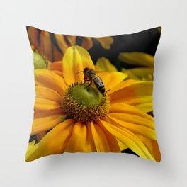 sunny wasp Throw Pillow