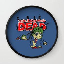 The Lemming Dead Wall Clock