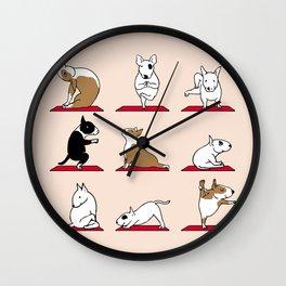 Bull Terrier Yoga Wall Clock