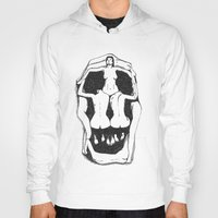 salvador dali Hoodies featuring Skull by Salvador Dali by Stewart S
