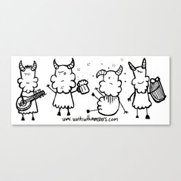 Partying Satyrs Canvas Print
