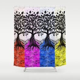 THEY COME IN COLORS Shower Curtain