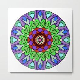 Edgy floral mandala Metal Print