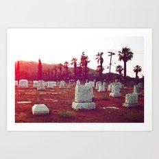 The death of California Art Print