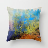 illusion Throw Pillows featuring Illusion by Christine Scurr