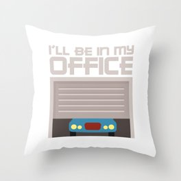 Racing Shirt With A Nice Illustration Of A Car And Gears T-shirt Design Made Perfectly For Car Throw Pillow