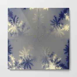 Ice Flowers Metal Print