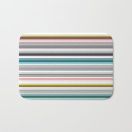 grey and colored stripes Bath Mat