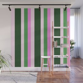 Pink Roses in Anzures 1 Stripes 4V Wall Mural