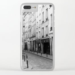 Paris in Black and White, Quartier Latin Clear iPhone Case