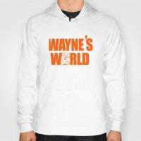 snl Hoodies featuring Waynes World logo SNL saturday night live 90s Funny Geek Nerd by jekonu