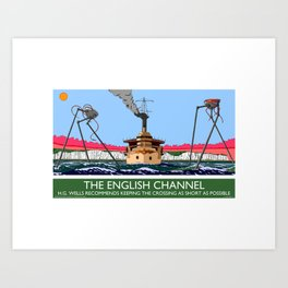 The English Channel Art Print
