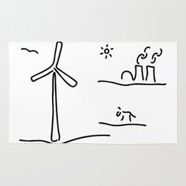 new energy environment Rug