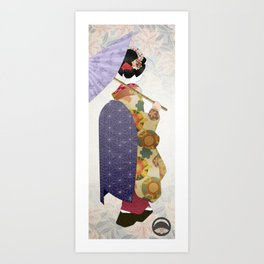 Chiyogami Maiko Art Print