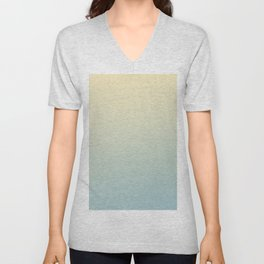 FADING AWAY - Minimal Plain Soft Mood Color Blend Prints Unisex V-Neck