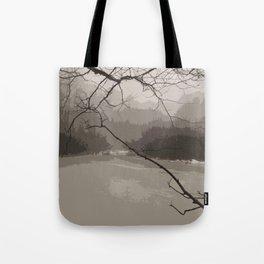 Fog over Swamp Tote Bag