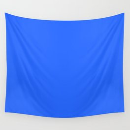 Ultra Marine Blue Solid Color Block Wall Tapestry