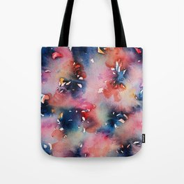 Pink Flowers Perfume Tote Bag