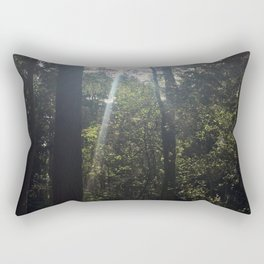 Light Through Trees 2. Rushmere Country Park, Bedfordshire Rectangular Pillow