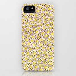 Ditsy Flora Yellow iPhone Case