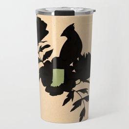 Indiana - State Papercut Print Travel Mug