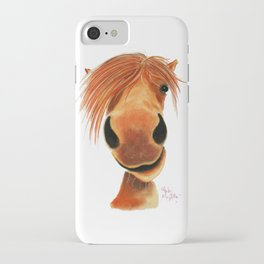 Happy Horse ' GINGER NUT ' by Shirley MacArthur iPhone Case
