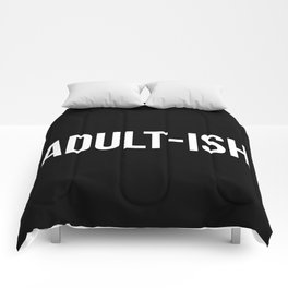 Adult-ish Funny Quote Comforters