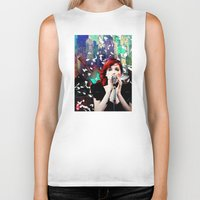 transistor Biker Tanks featuring Transistor - Before We All Become One… by Danielle Tanimura
