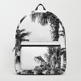 {2 of 2} Classic Palm Leaf Sky // Summer Black and White Palmtree Art Print Backpack