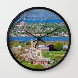 St. George's and Newport Bridge - Aquidneck Island, Rhode Island Wall Clock