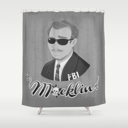 Burt Macklin Shower Curtain