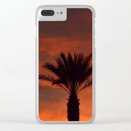 Palm Sunset - II Clear iPhone Case