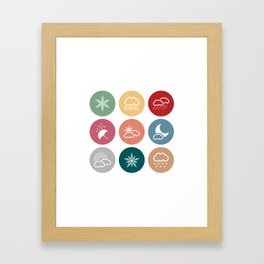 Weather symbol Framed Art Print