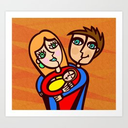 Happy Family Art Print