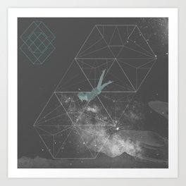 Swmng through Dimensions Art Print