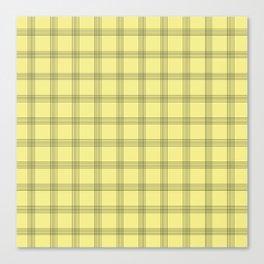 Black Grid on Pale Yellow Canvas Print