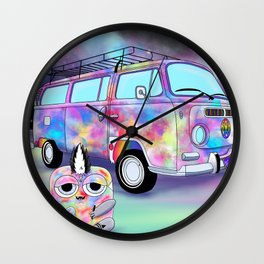 Wondrous & Whimzical Places: Funkadelic and his Groovy Magic Bus Wall Clock