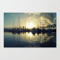 marina morning Canvas Print