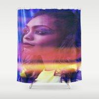 fierce Shower Curtains featuring Fierce by Jade Alexandra