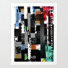 colored photocopy Art Print