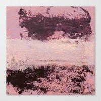 burgundy Canvas Prints featuring burgundy rose by patternization