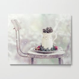 Christmas Pitcher Metal Print