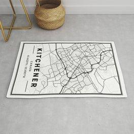 Kitchener Light City Map Rug
