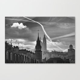 a view from the window, Paris Canvas Print