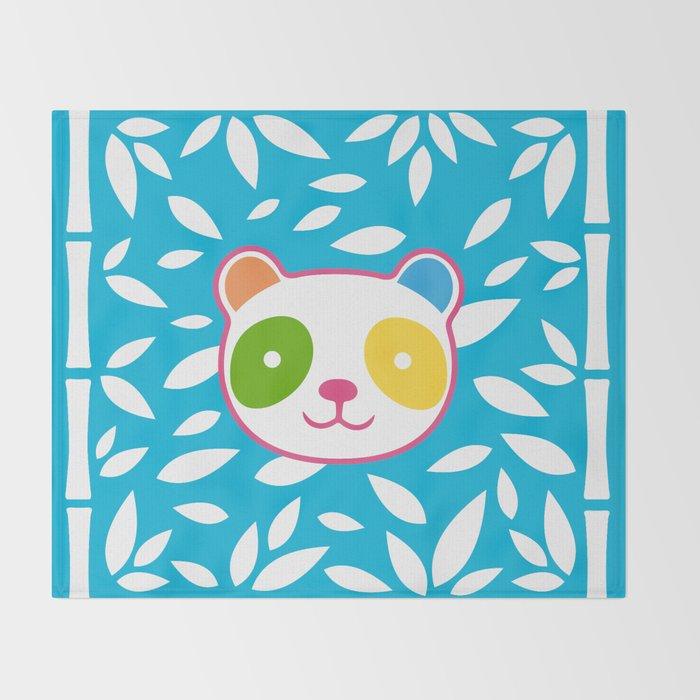 Rainbow Panda Throw Blanket